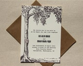 Tree Wedding Invitation or Save the Dates