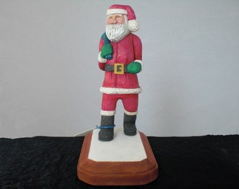 Santa Claus St Nicholas Steppin' Out Hand Carved