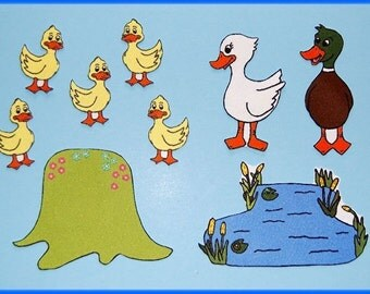5 Little Ducks Felt /  Flannel Board Set
