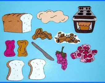 Peanut Butter and Jelly Felt / Flannel Board Set