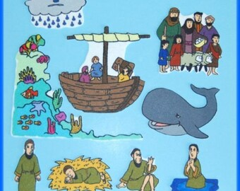 Jonah and the Whale Felt / Flannel Board Bible Story Set