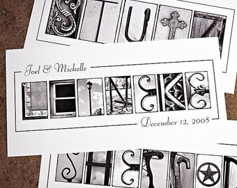 3 Personalized Name Frame Prints (10x20) unframed