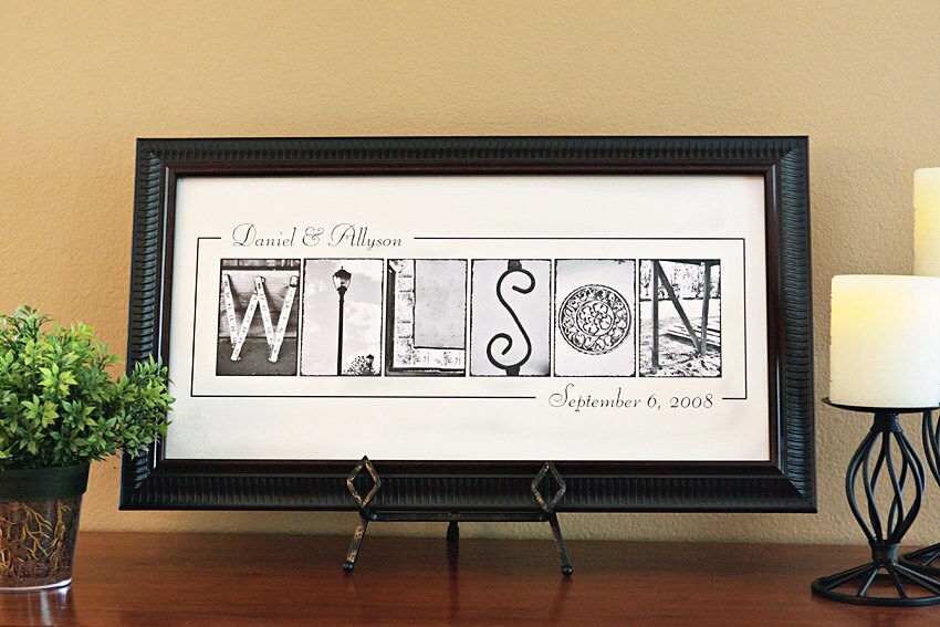 Personalized Name Frame Print 10x20 Unframed Personalized