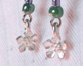 Drop Earrings - Spring - Beads and Silver