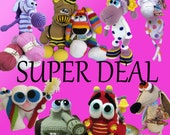 SUPER DEAL. Pick any 5 Amigurumi patterns for 25.