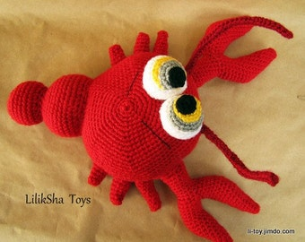 Crochet toy Amigurumi Pattern - Red Lobster