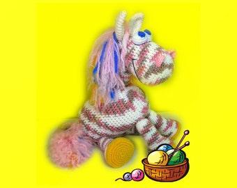 Crochet toy Amigurumi Pattern - Pony Lilita.
