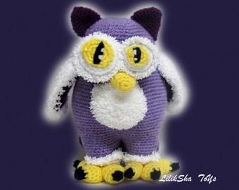 Crochet toy Amigurumi Pattern - Moon Owl