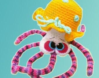 Amigurumi pattern - Marquise de Pompadour octopus.