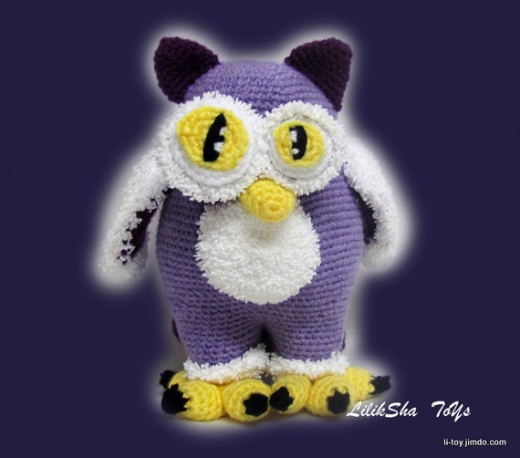 Crochet toy Amigurumi Pattern - Moon Owl