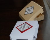 Paper Cookie Box mini pizza box set of 20 with labels
