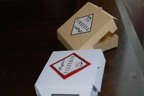Paper Cookie Box mini pizza box set of 16