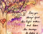 Courage Blessing Watercolor Print