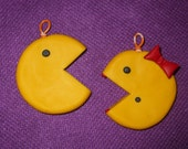 Special order for ShinyKitty - Pac Man & Ms. Pac Man ornaments