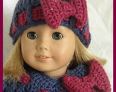 American Girl Doll Poncho Set....Free Shipping