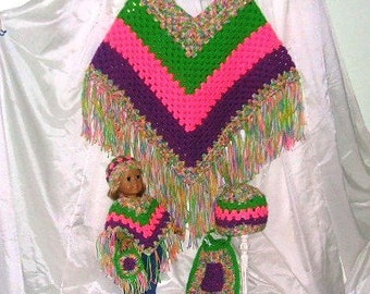 Doll and Me Poncho Sets