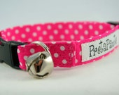 Breakaway Cat Collar in Pink and White Polka dots