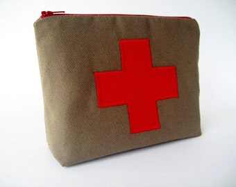 Red Cross  Medicine Pouch / First aid kit