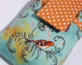 smart phone purse,samsung Galaxy S7/edge/note,HTC 10,Fire Phone,,LG g5,oneplus 3,iPhone 7/6s/6 case cellphone purse- Morning Bird Orange dot