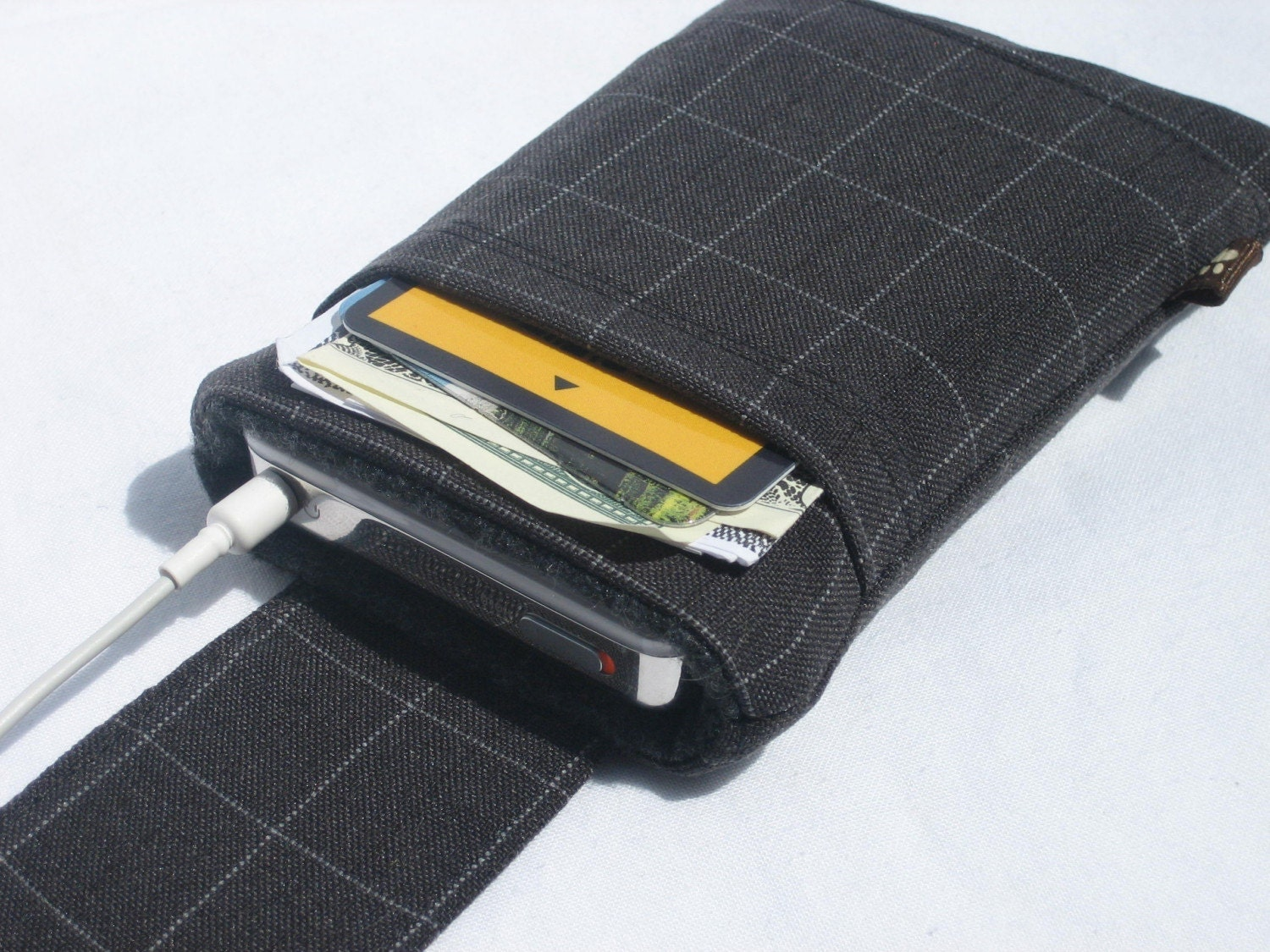 Neck Strap Case For Iphone Ipod Itouch With Flap Closure And