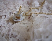 Teacup and Spoon Necklace