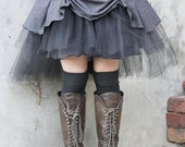 ON SALE Rainy day... tutu with teired tulle. Custom made for you in your choice of colours.
