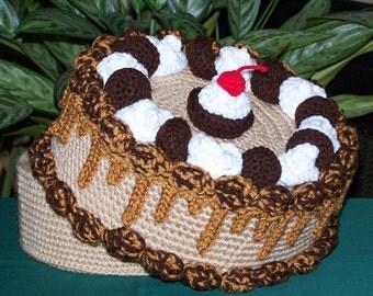 Peanut Butter Cup Treasure Cake PDF Crochet Pattern