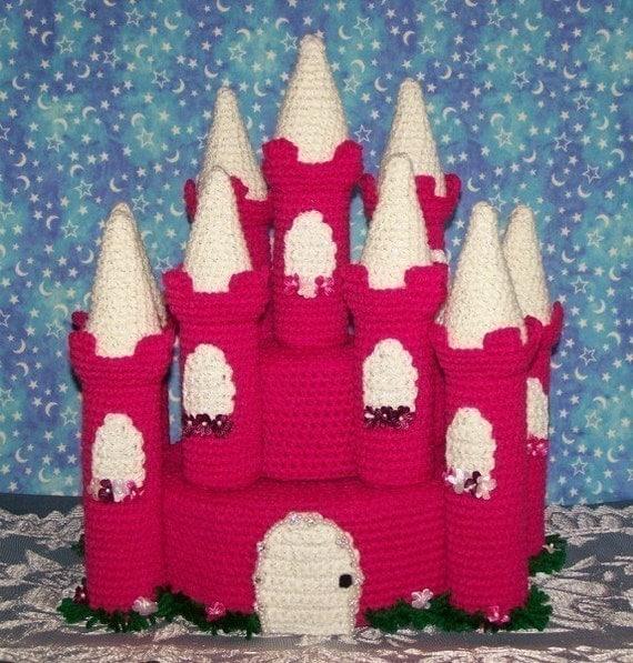Princess Castle Treasure Cake Crochet Pattern PDF