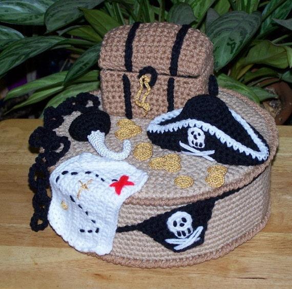 Pirate Treasure Cake PDF crochet pattern