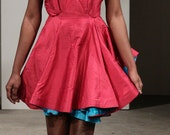 SAMPLE SALE Madonna Fuschia Pink Racer Back Mini Dress