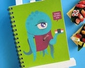 Monster Sushi - Small 4 x 5 Blank Notebook