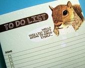Irreverent Squirrel To Do List memo pad (50 sheets)