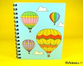 Hot Air Balloons - Small 4 x 5 Blank Notebook