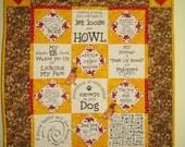Dog sayings quilt hanging