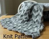Knit Baby Blanket Pattern, easy knit pattern, knit chevron blanket, newborn baby blanket pattern, knit blanket pattern, knit ripple pattern