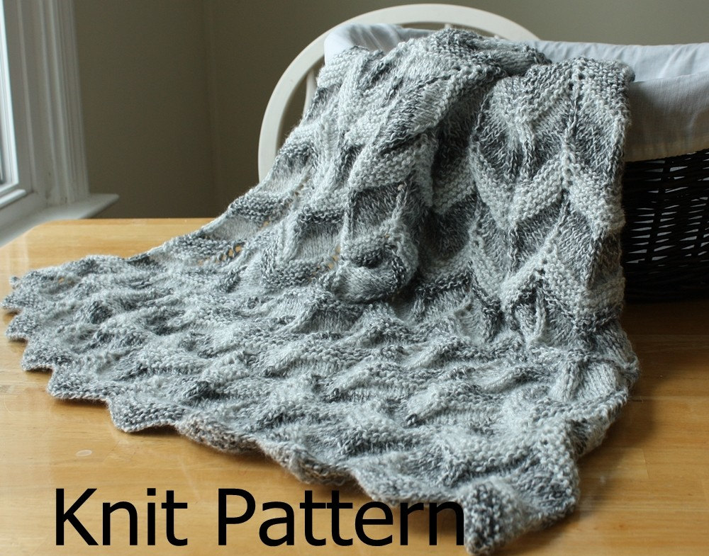 Easy Afghan Patterns To Knit : Knit Baby Blanket Pattern knit chevron baby blanket pattern