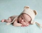 Teddy Bear -  Newborn Hat