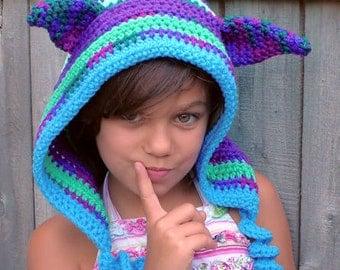 Crochet Hood Enchanted Elf Hoodie Hat Custom Made for you