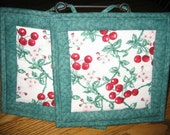 Cherry Blossom Pot Holders - Set of 2