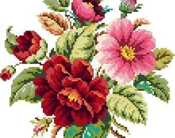 Small bouquet. Cross stitch pattern. instant download PDF