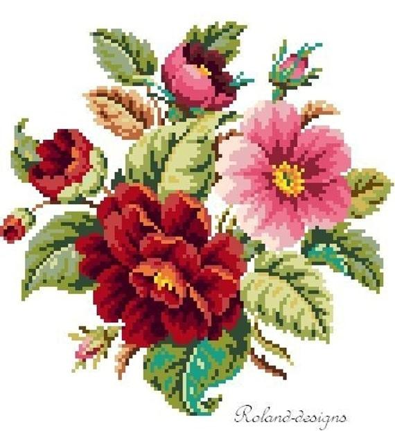 Small bouquet. Cross stitch pattern