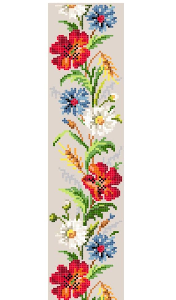 Les Fleurs Des Champs Cross Stitch Pattern Instant Download
