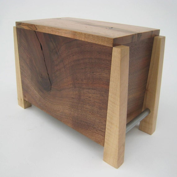 Modern Cremation Urn - Quietly and Pensively Made - Solid Hardwoods - In Stock and Ready to Ship by Studio 1212 Furniture
