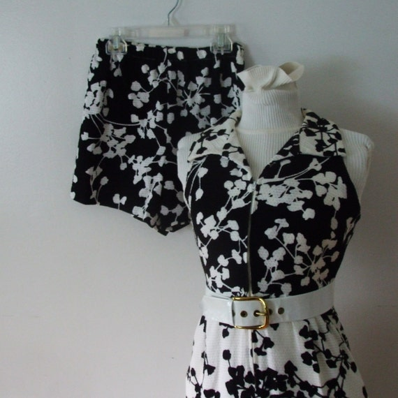 Cute Carol Craig Dress and Short Set   in Black and White