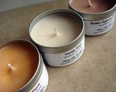 3 Pack - 8oz Travel Tin Soy Candles - Pick Your Own Scents