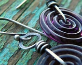 Sterling Silver and Lampwork Glass Swirl
