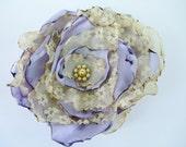 Lavender Flower Accessory, Hair Clip or Pin Brooch, Wedding, Bridal Sash
