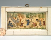 Antique Miniature Persian Painting: Ivory
