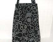 Black and White Circle Market Bag
