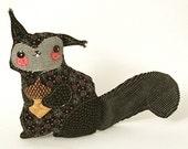 Ragtag Stuffed Animal- Black Squirrel